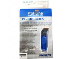 Картридж ProfiLine BCI-3eBk Series Black водный совместимый для Canon
