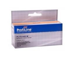 Картридж ProfiLine CLI-451M XL Magenta водный совместимый для Canon