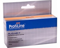 Картридж ProfiLine CLI-451Y XL Yellow водный совместимый для Canon