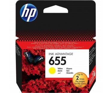 Картридж HP CZ112AE №655 Yellow водный оригинальный желтый