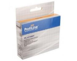 Картридж ProfiLine LC1000Y Yellow водный совместимый для Brother