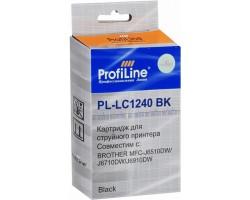 Картридж ProfiLine LC1240BK Black водный совместимый для Brother