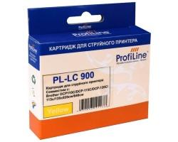 Картридж ProfiLine LC900Y Yellow водный совместимый для Brother
