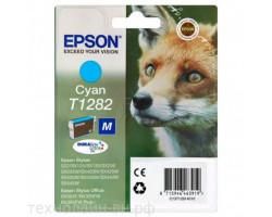 Картридж Epson T1282 Cyan пигментный оригинальный